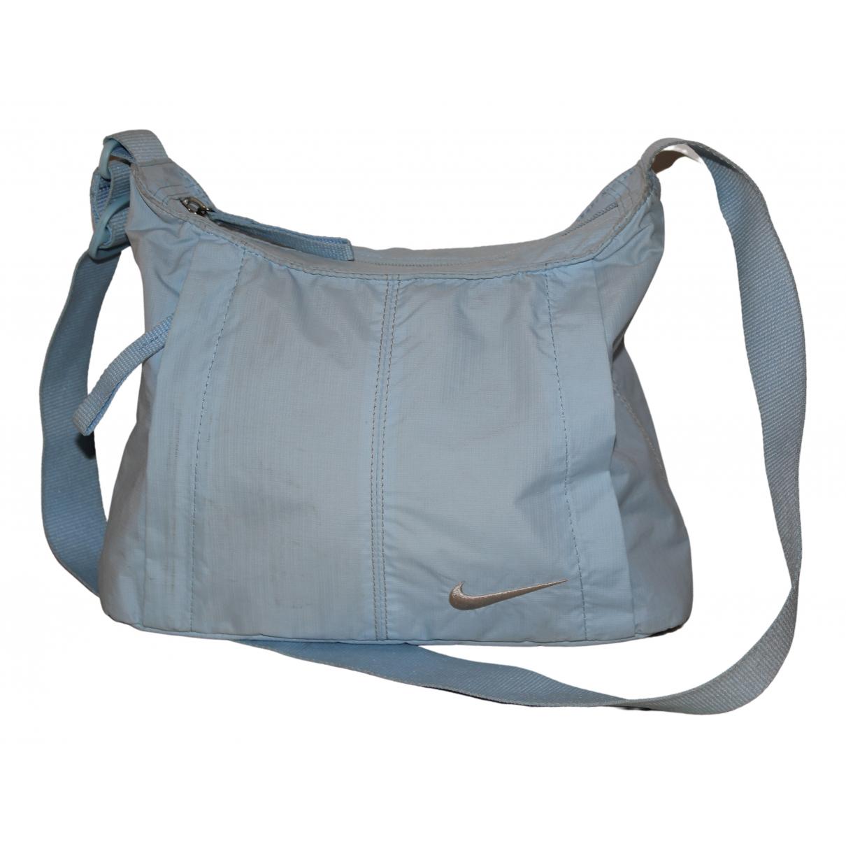 Nike N Blue Cloth handbag for Women N