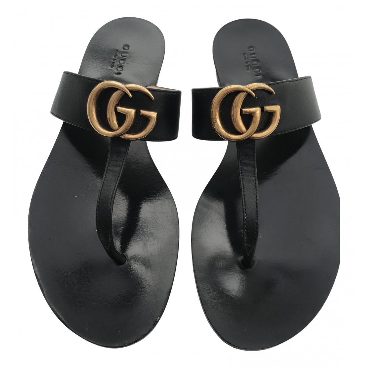 Sandalias romanas Double G de Cuero Gucci
