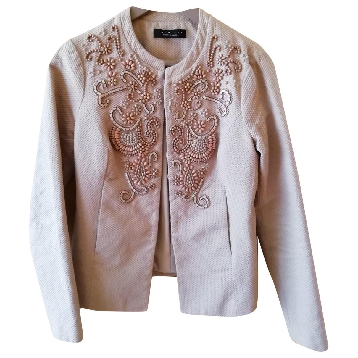 Twin Set - Veste   pour femme en coton - beige