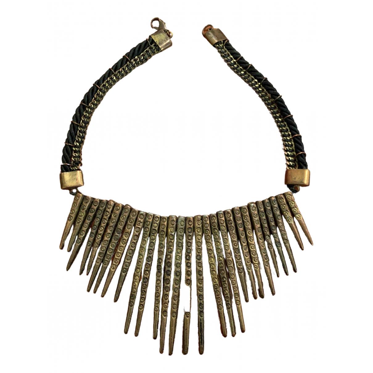 Non Signé / Unsigned Motifs Ethniques Multicolour Metal necklace for Women N