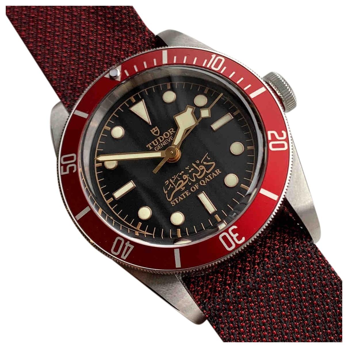 Tudor Black Bay 41mm Uhr in  Bordeauxrot Stahl