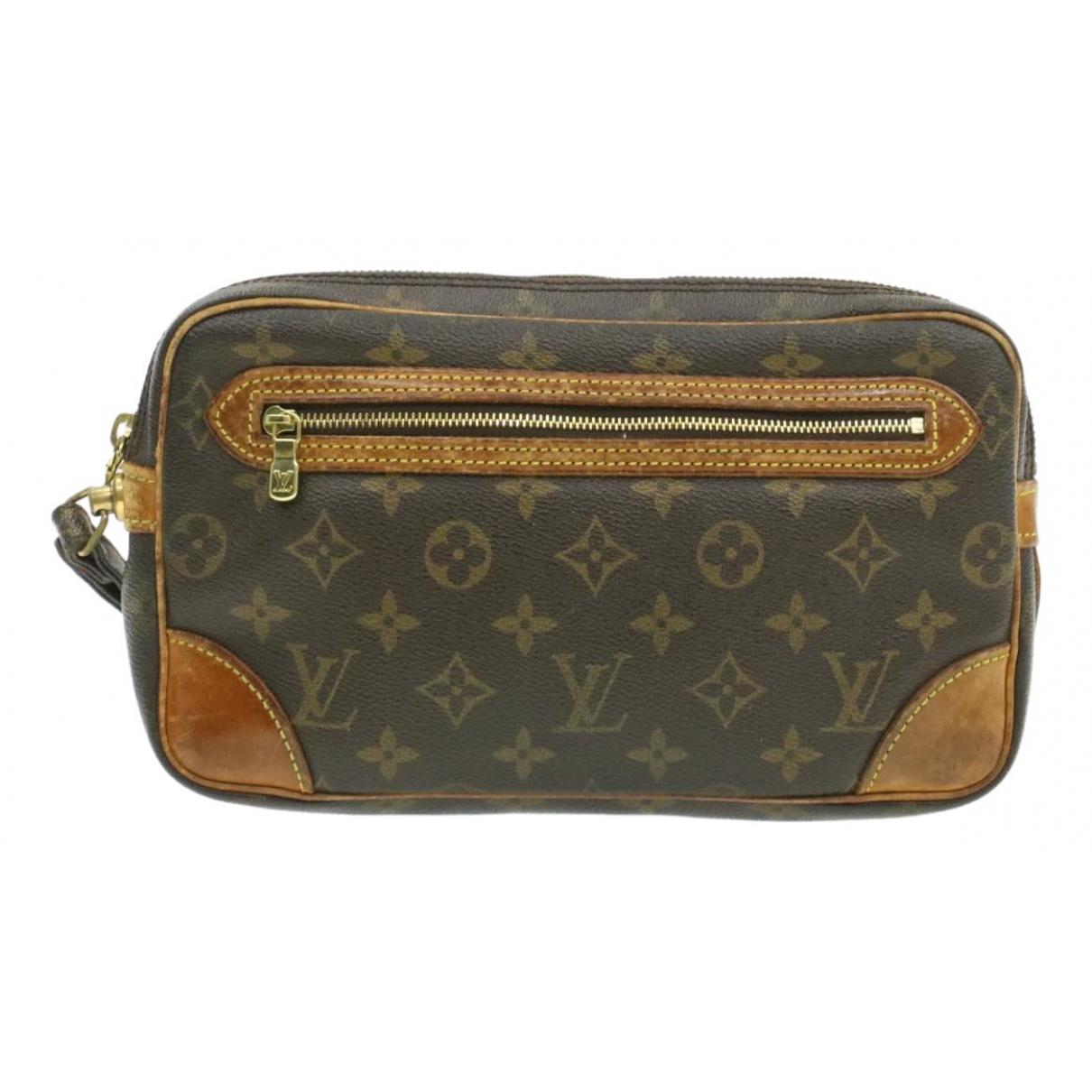 Louis Vuitton Marly Dragonne  Brown Cloth Clutch bag for Women N
