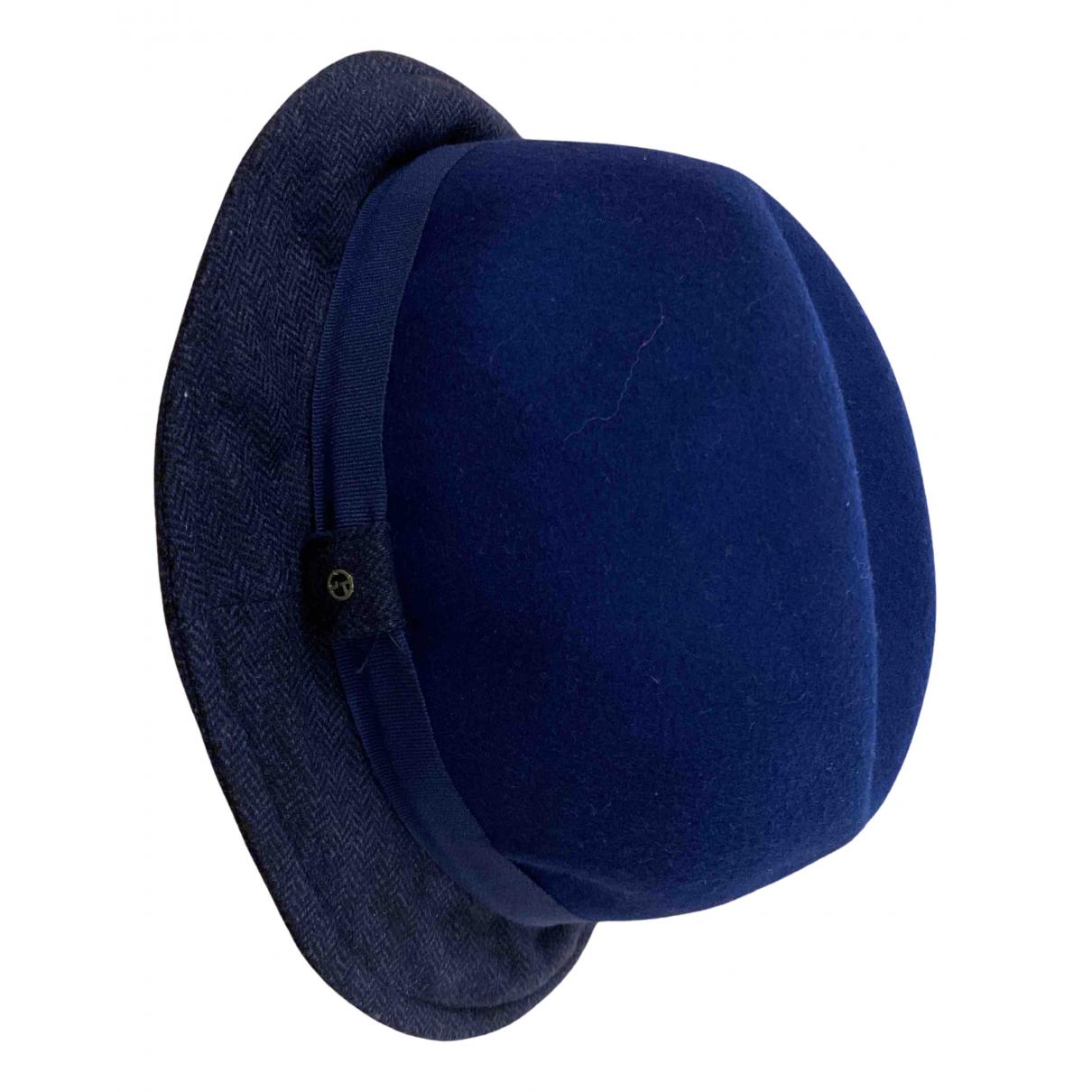 Giorgio Armani \N Hut, Muetzen in  Blau Wolle