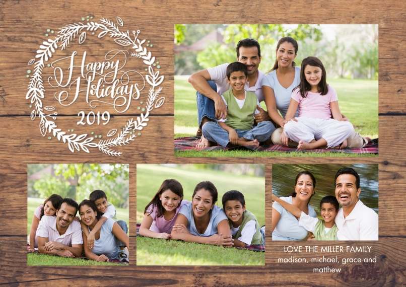 Holiday Photo Cards 5x7 Cards, Premium Cardstock 120lb with Elegant Corners, Card & Stationery -2019 Holiday Rustic by Tumbalina