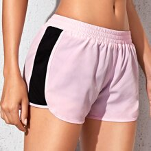 Contrast Panel Sports Shorts