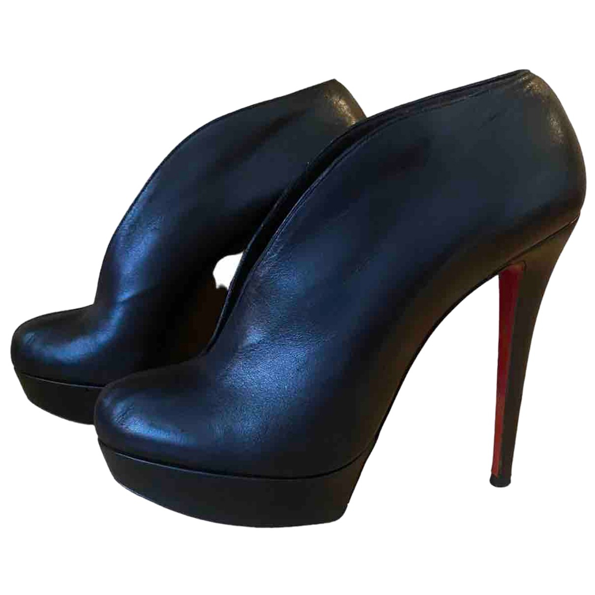 Christian Louboutin - Escarpins   pour femme en cuir - noir