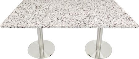 Q411 30X42-SS14-17D 30x42 Chocolate Blizzard Quartz Tabletop with 17