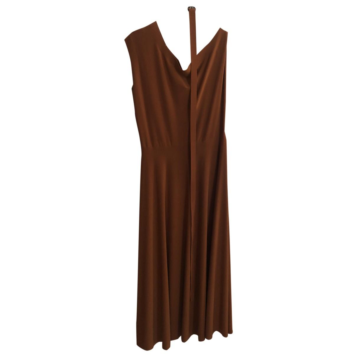 Norma Kamali \N Kleid in  Orange Synthetik