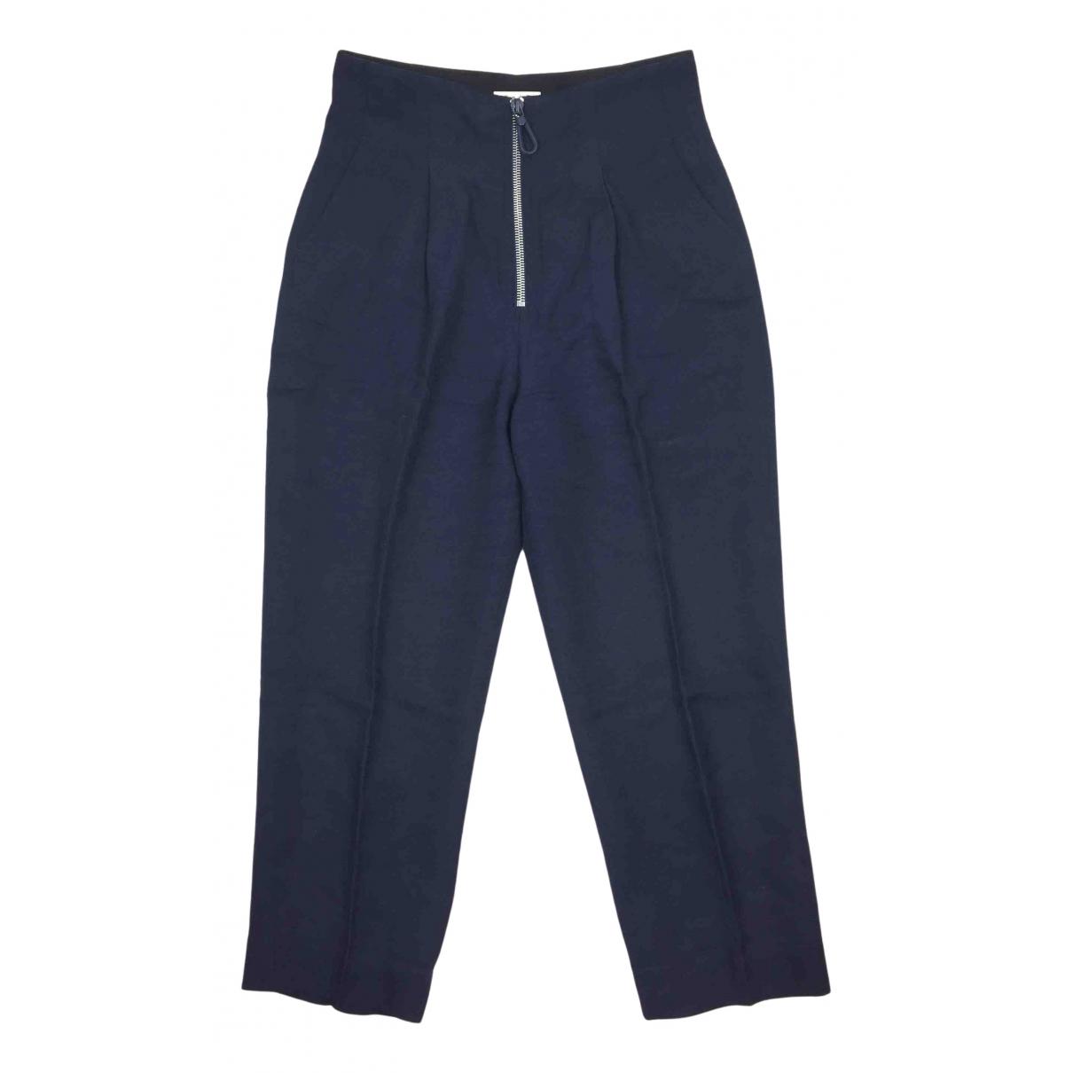 Sandro N Blue Trousers for Women 38 FR