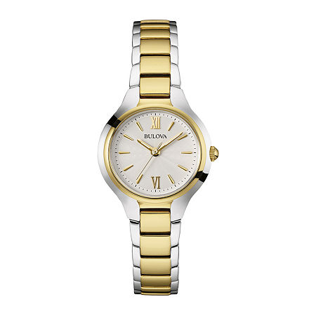 Bulova Classic Womens Two Tone Stainless Steel Bracelet Watch-98l217, One Size , No Color Family