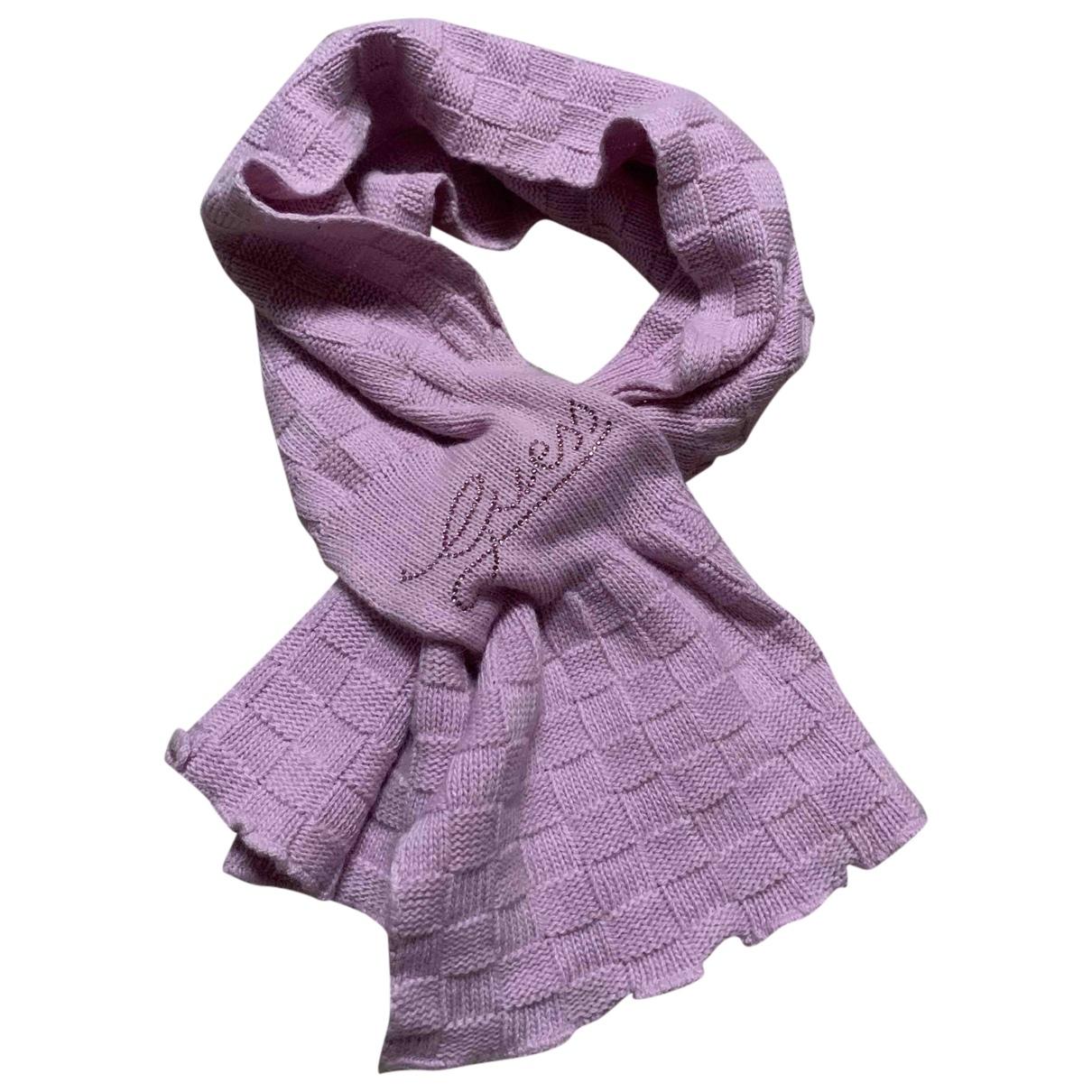 Guess - Foulard   pour femme en laine - rose
