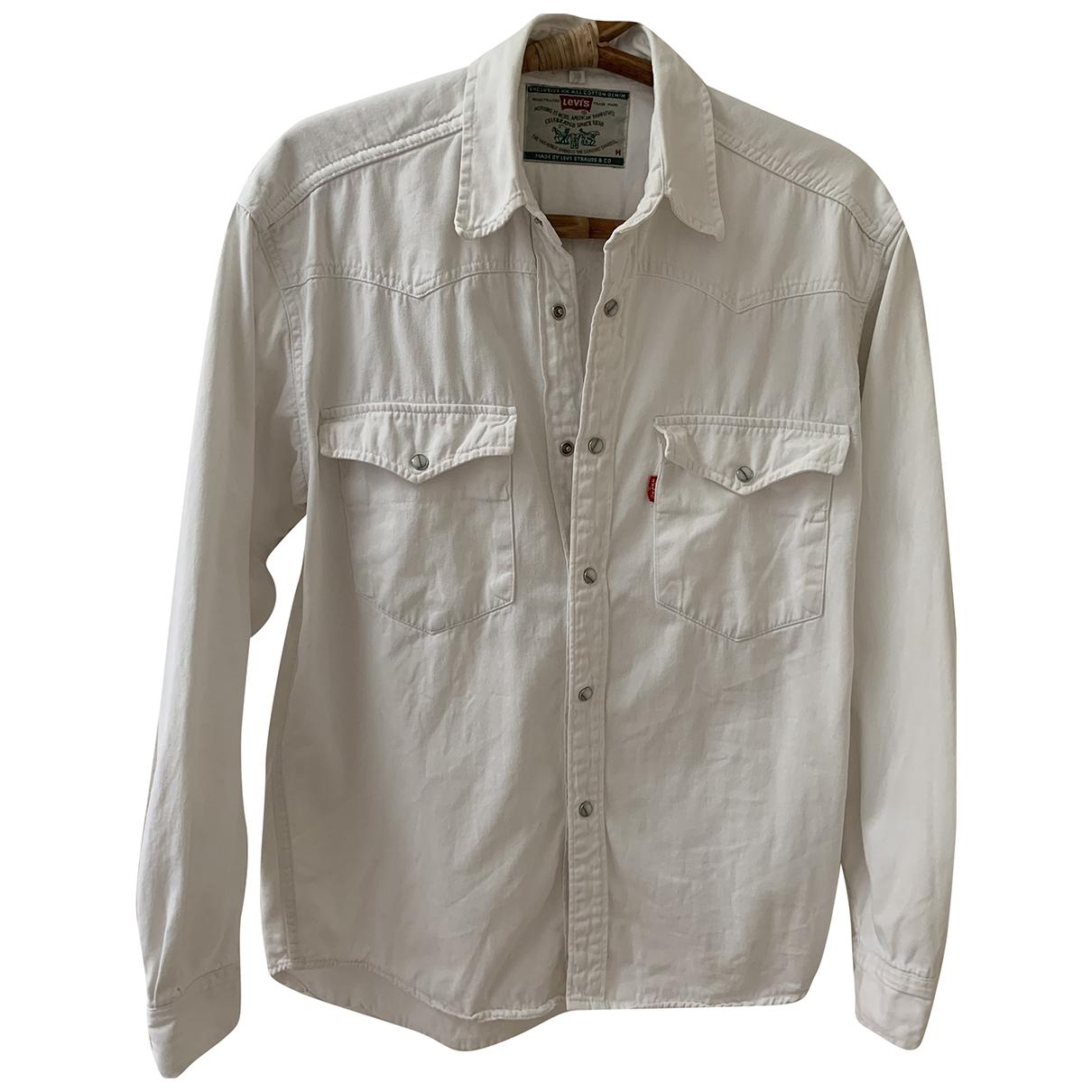 Levis - Chemises   pour homme en coton - blanc