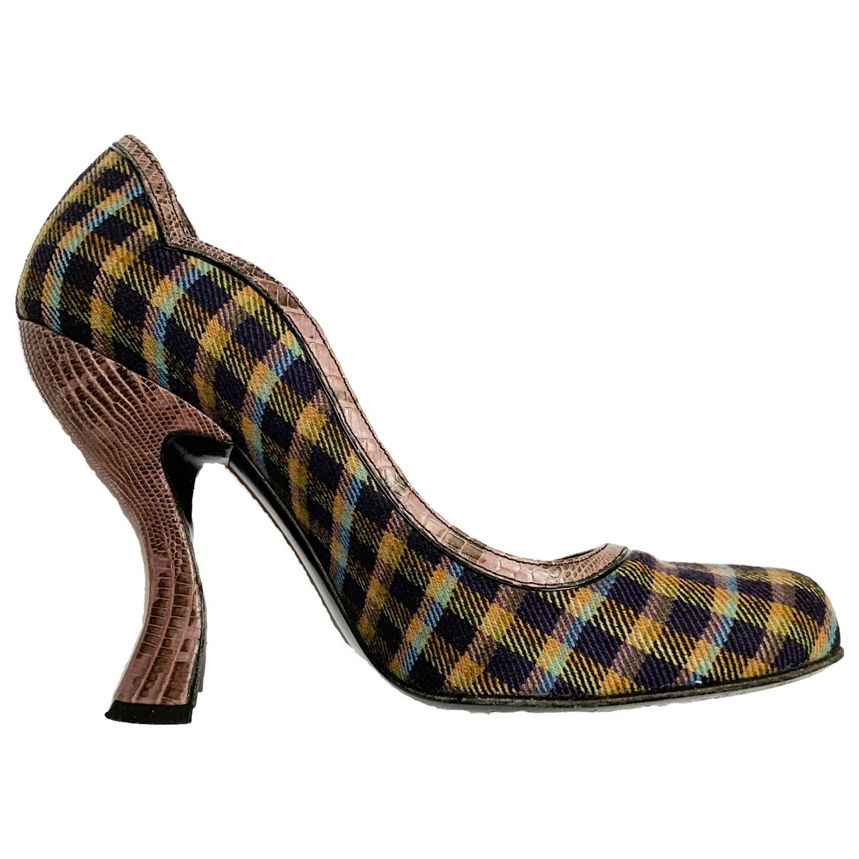 Prada \N Multicolour Cloth Heels for Women 38.5 EU