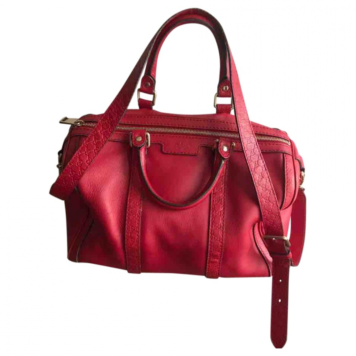 Gucci - Sac a main   pour femme en cuir - rouge