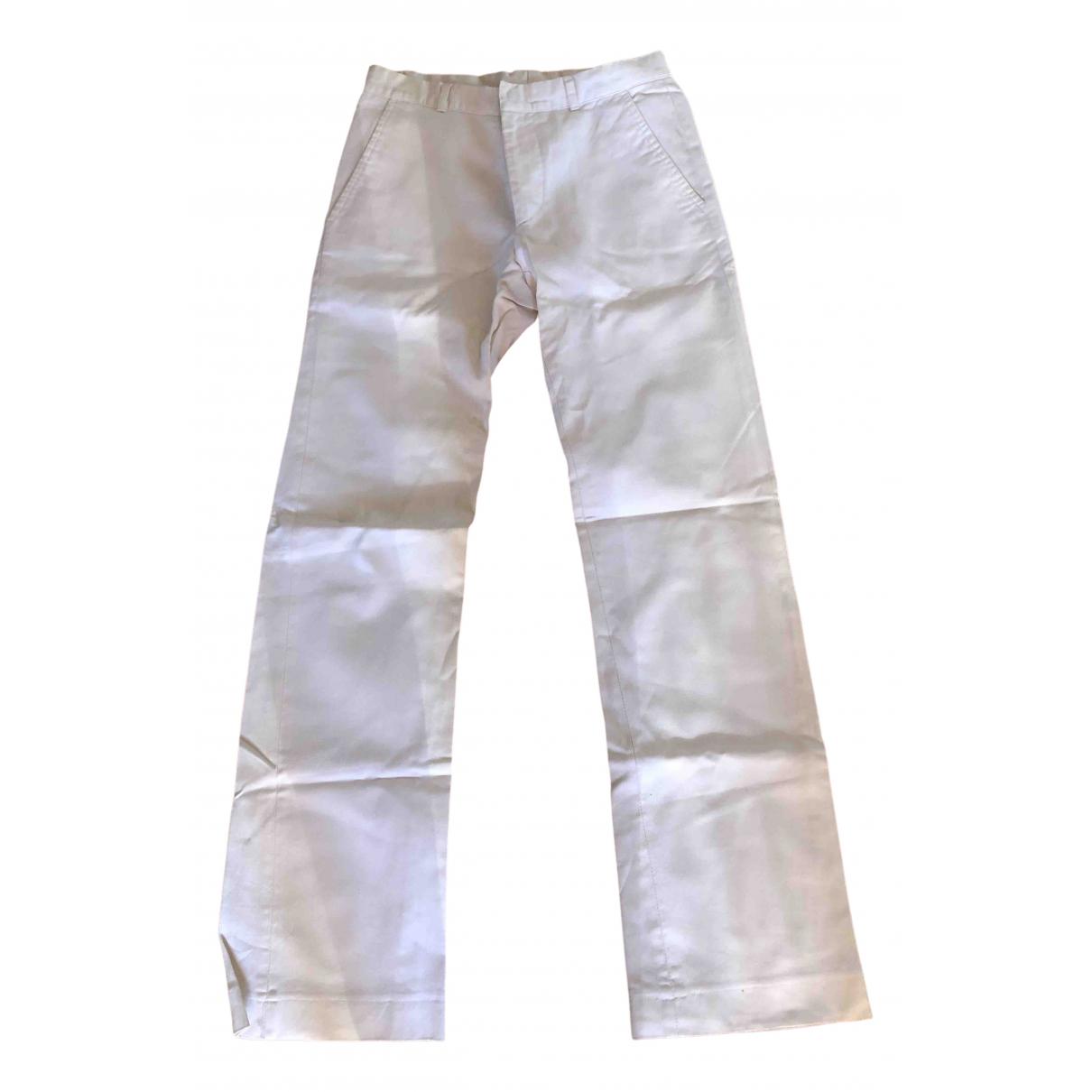 Daniele Alessandrini \N White Cotton Trousers for Men 44 IT