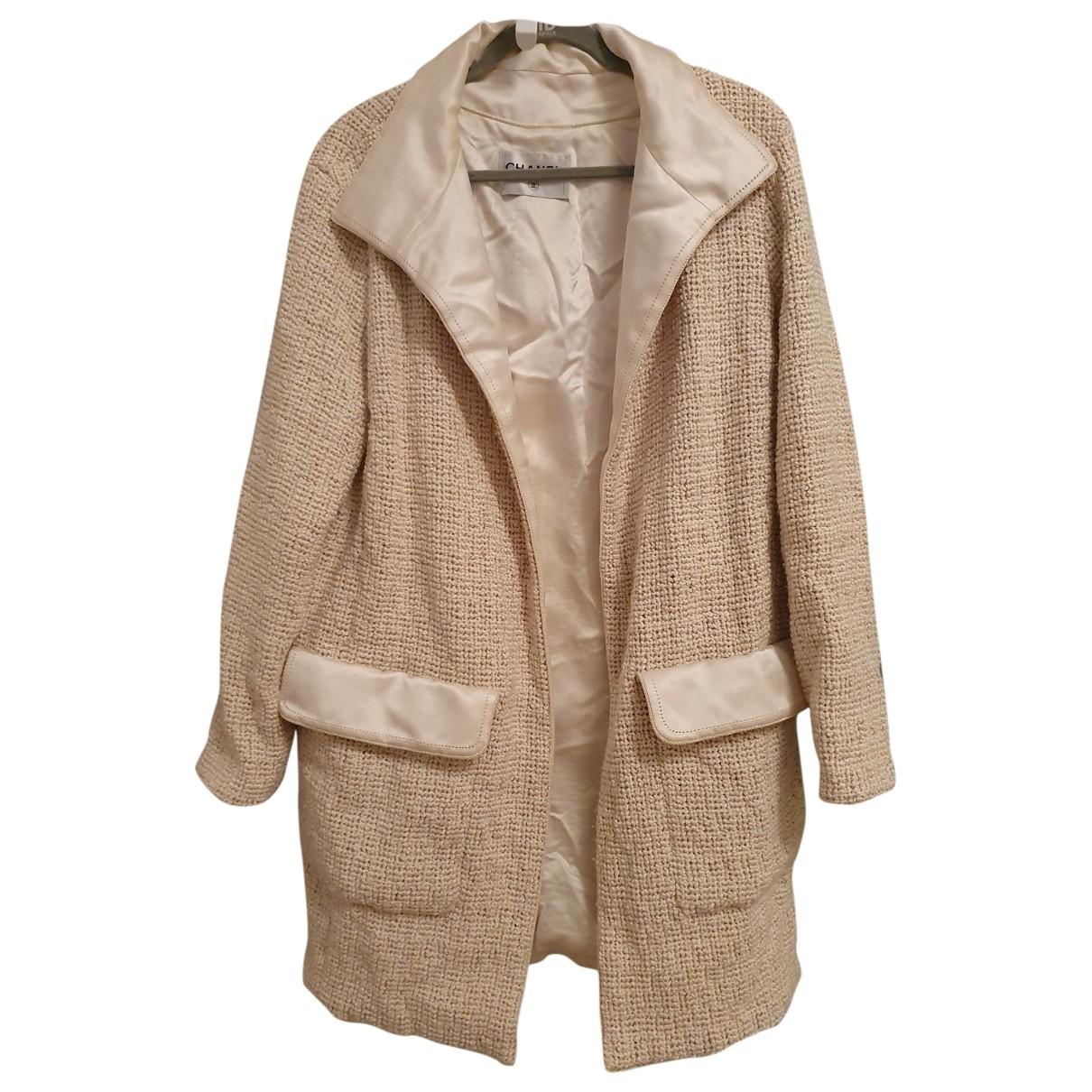 Chanel \N Jacke in  Beige Polyester