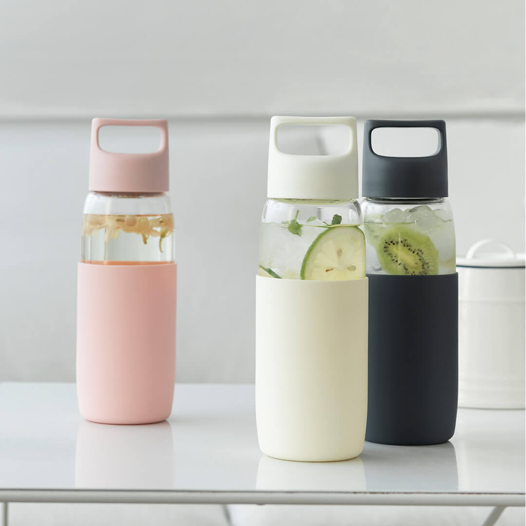 Fun Home 500ml Glass Water Bottle Portable -20℃-150℃ Temperature Tea Cup Drinking Mug With Silicone Case from xiaomi you