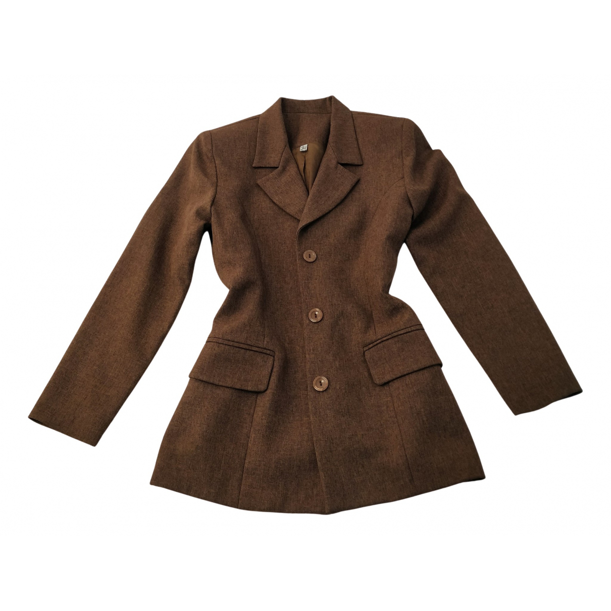 Non Signé / Unsigned Oversize Brown jacket for Women M International