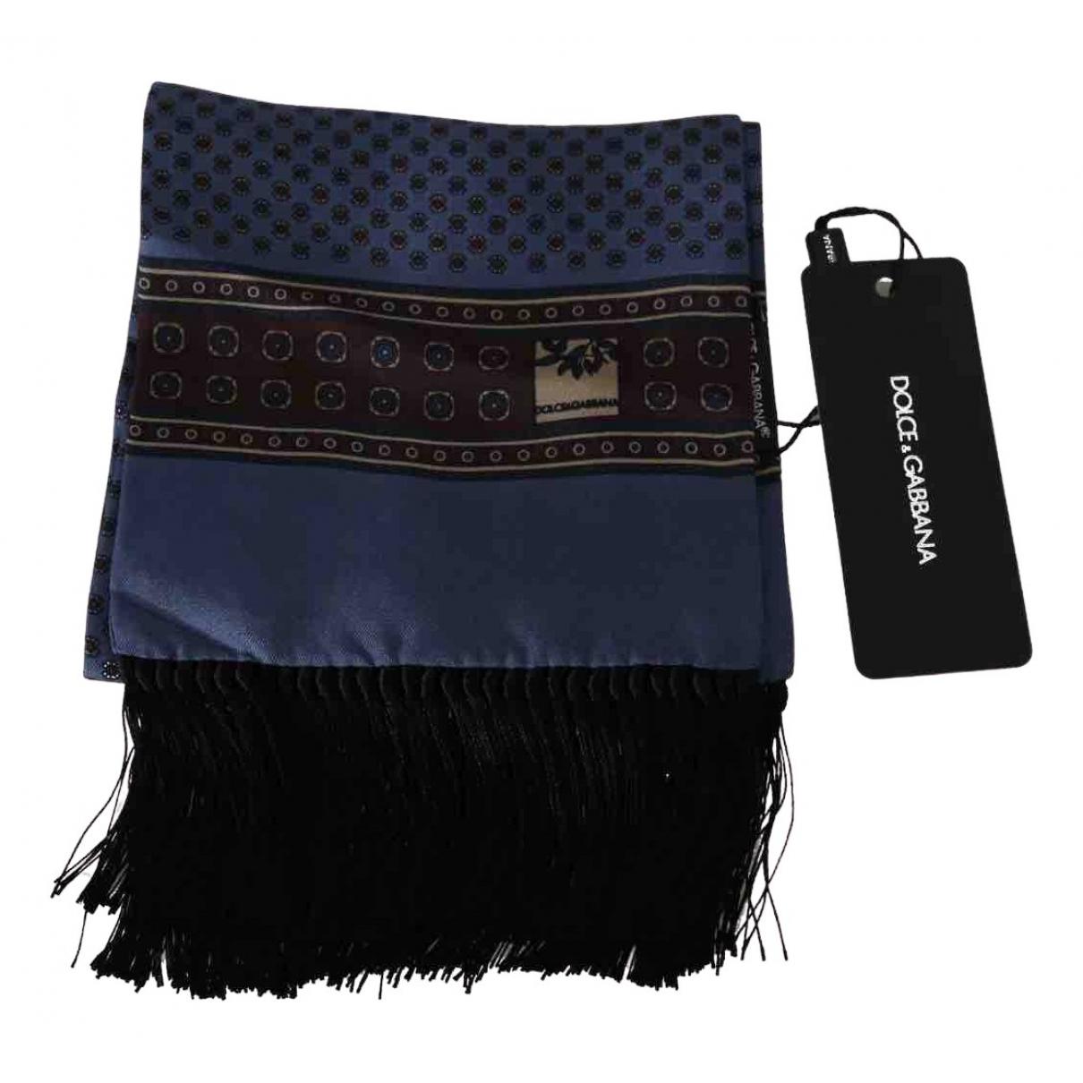 Dolce & Gabbana \N Tuecher, Schal in  Blau Seide