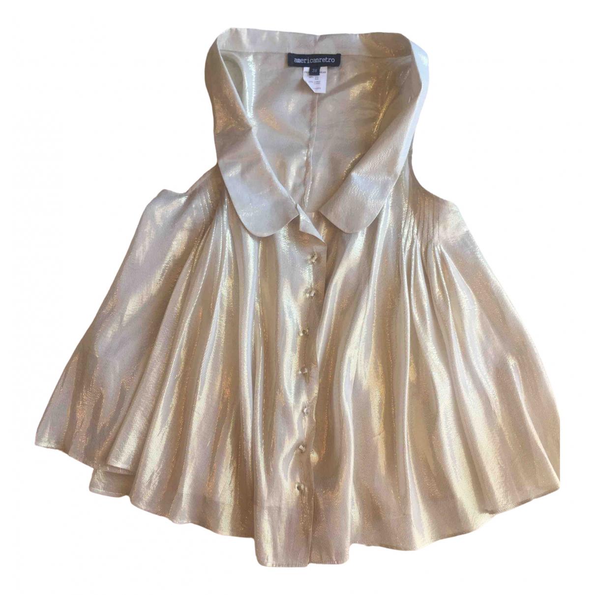 American Retro \N Gold Silk  top for Women 38 FR