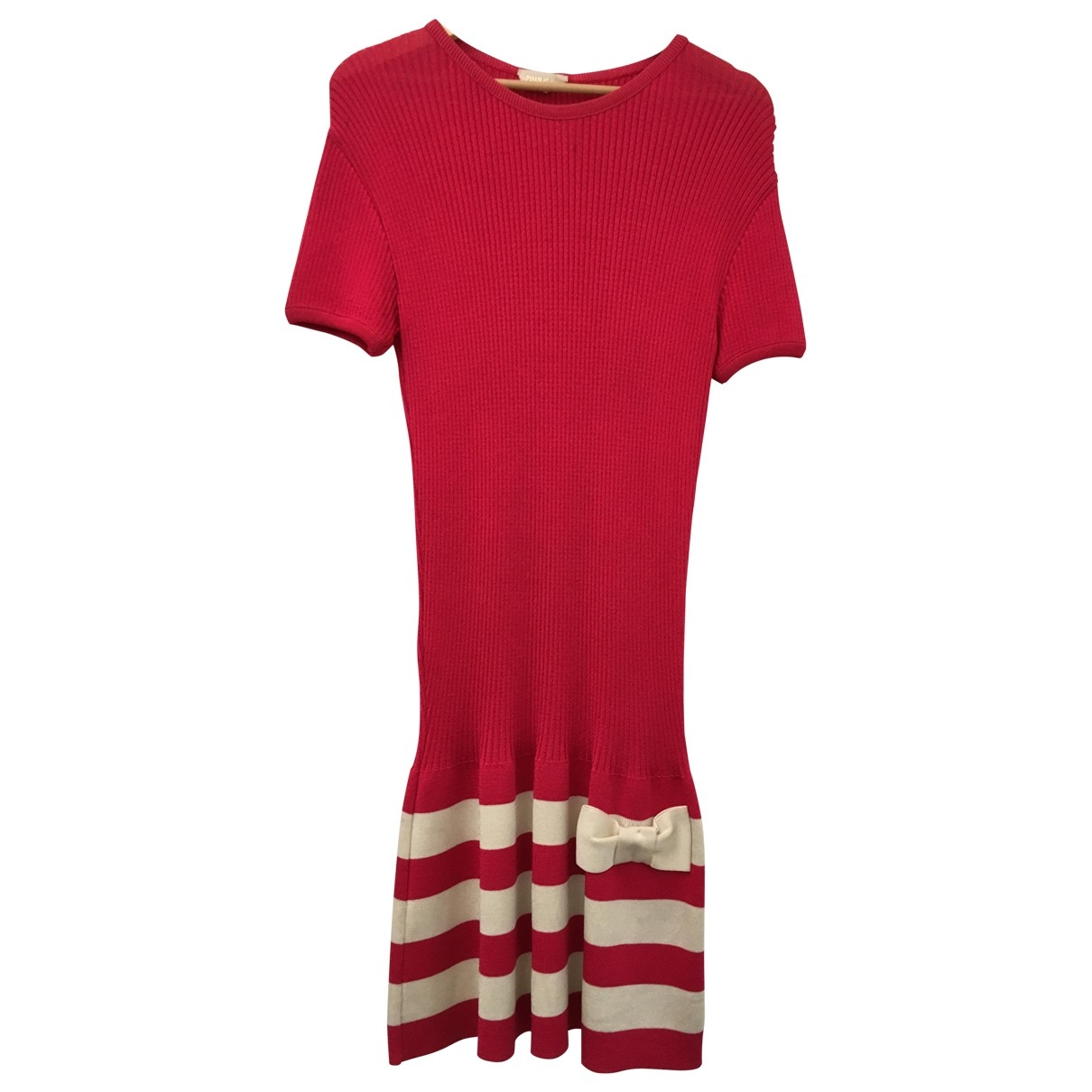 Paule Ka \N Pink Cotton - elasthane dress for Women 38 FR