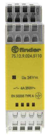 Finder , 24V dc Coil Non-Latching Relay SPDT, 6A Switching Current DIN Rail, 2 Pole