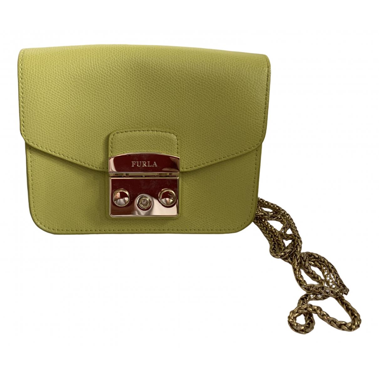 Furla Metropolis Handtasche in  Gelb Leder