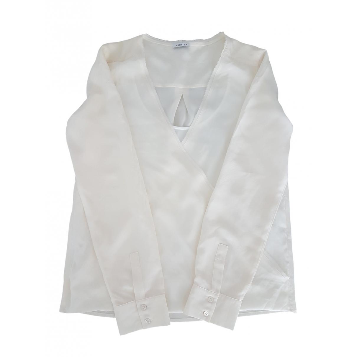 Marella \N Beige Silk  top for Women 38 IT