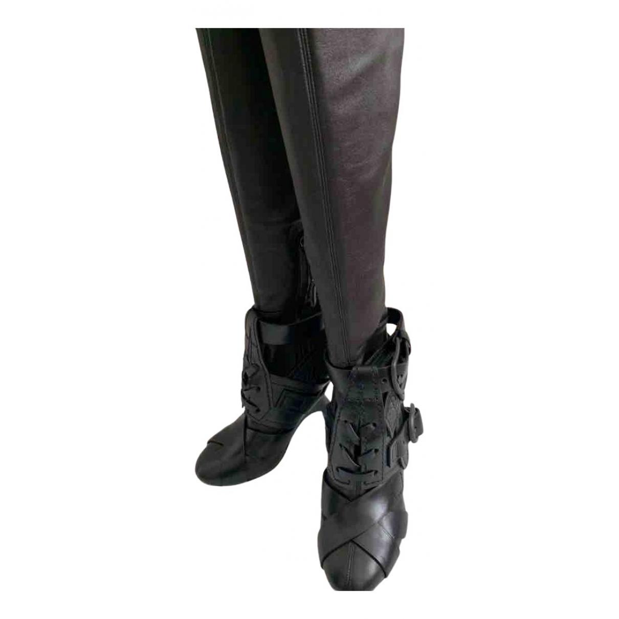 Tom Ford \N Stiefel in  Schwarz Leder