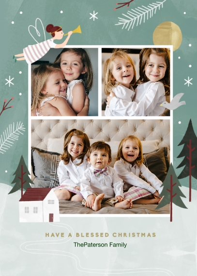 Religious Christmas Cards Flat Matte Photo Paper Cards with Envelopes, 5x7, Card & Stationery -Blessed Christmas