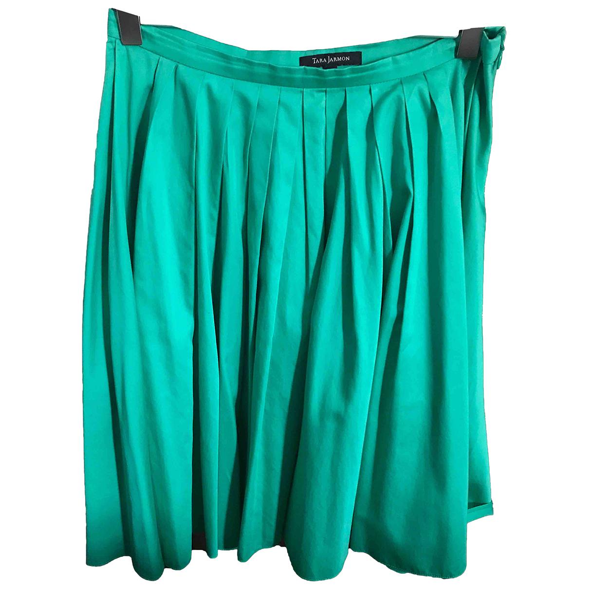 Tara Jarmon N Green Cotton skirt for Women 38 FR