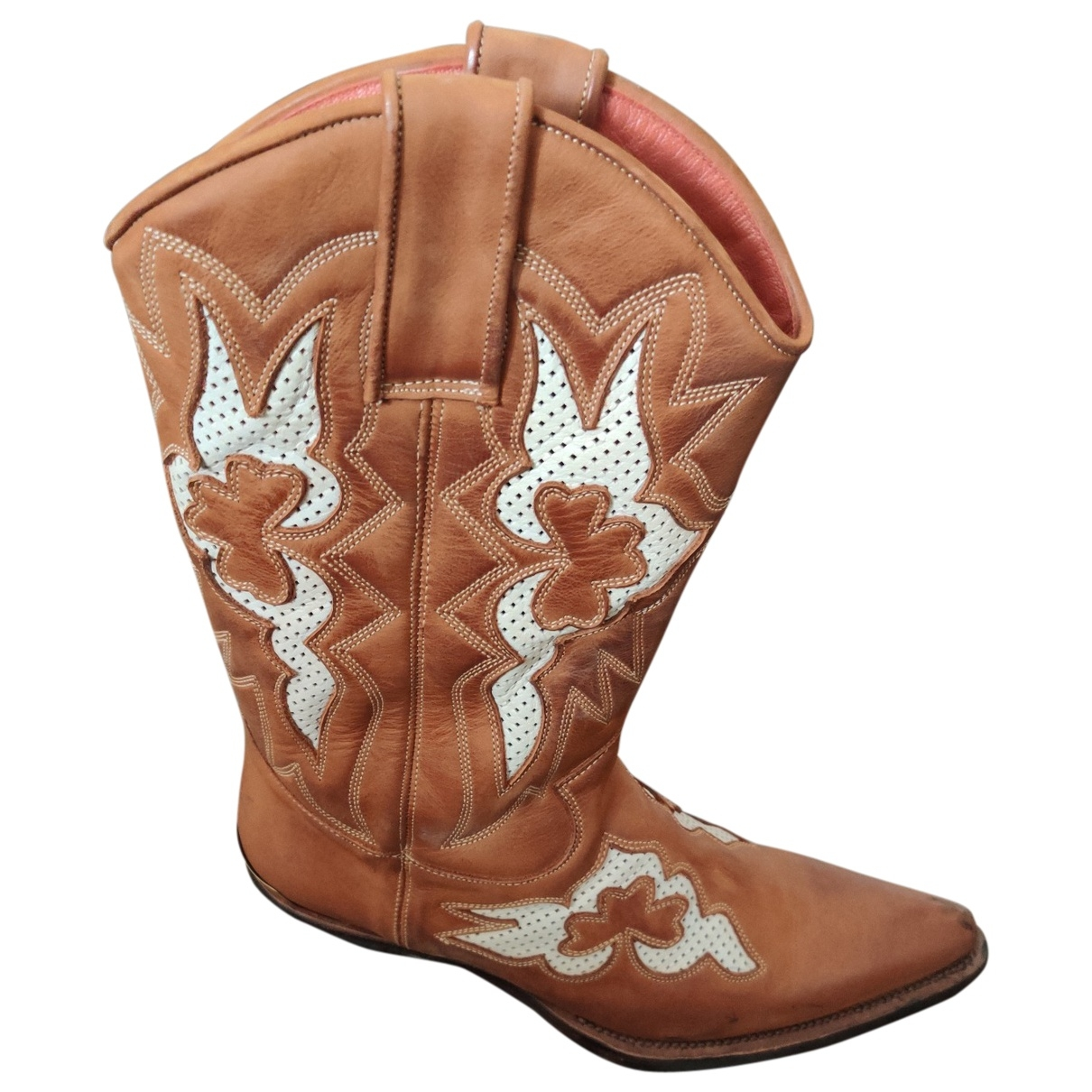 Roberto Cavalli \N Leather Boots for Men 44 EU