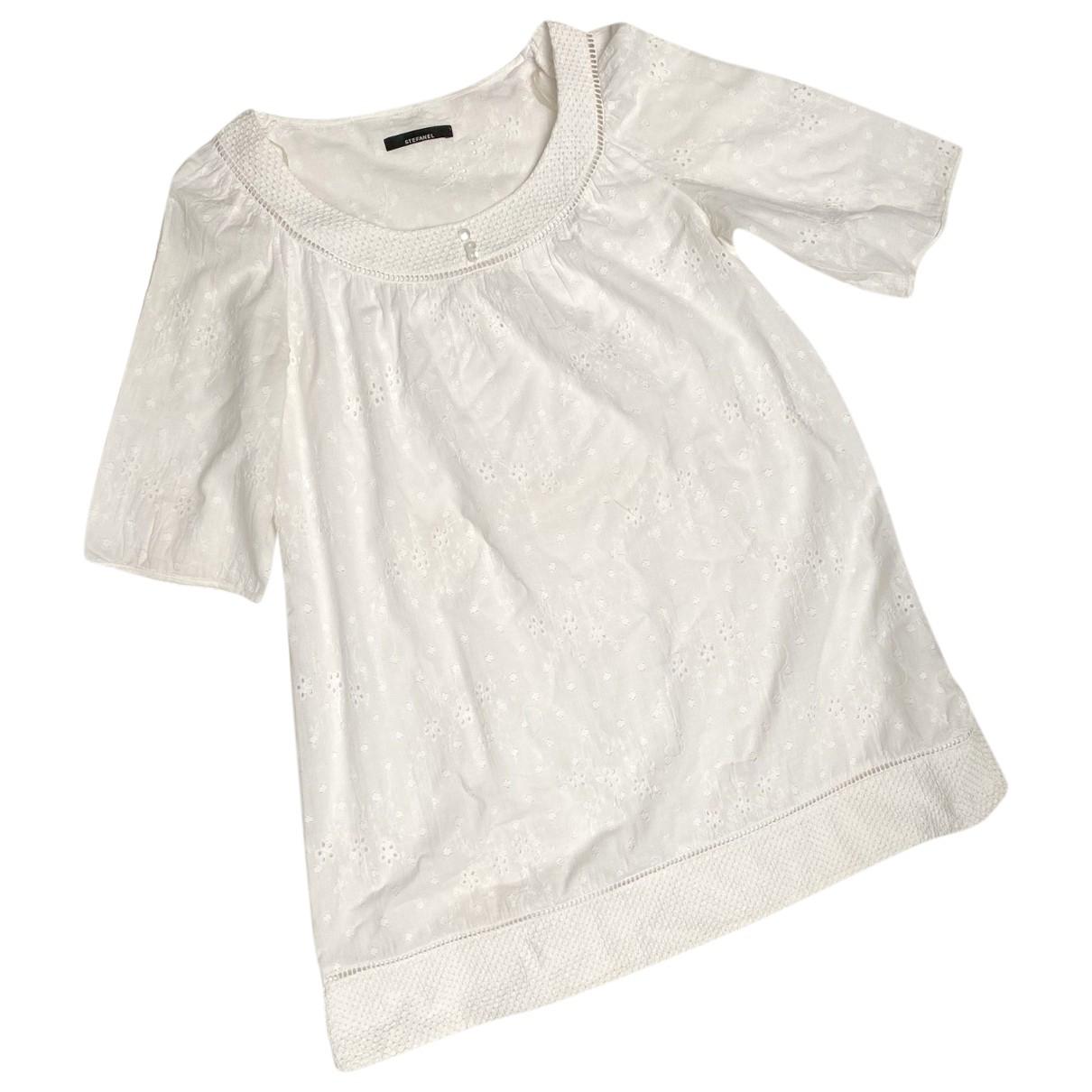 Stefanel \N Kleid in  Weiss Baumwolle