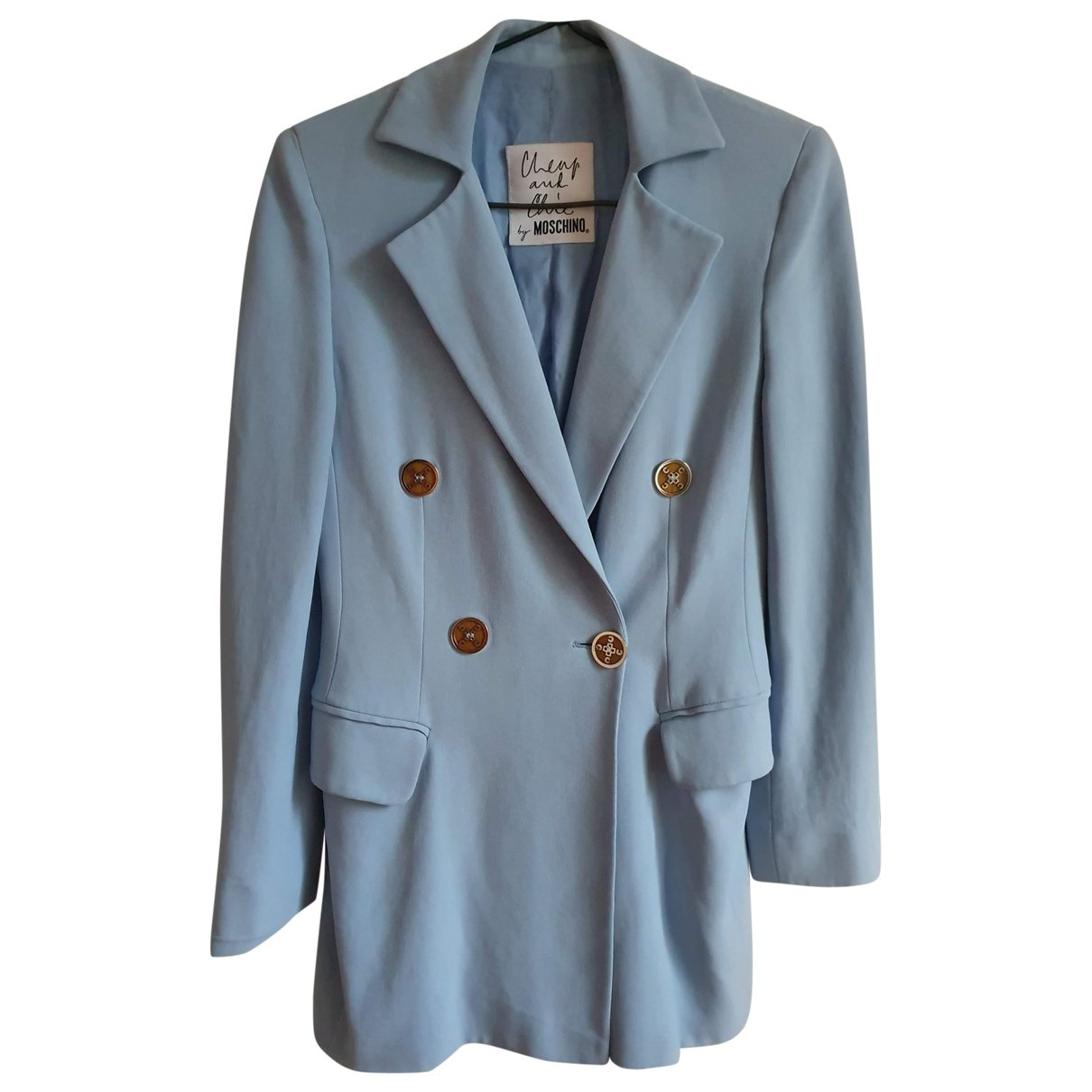 Moschino Cheap And Chic \N Jacke in  Blau Synthetik