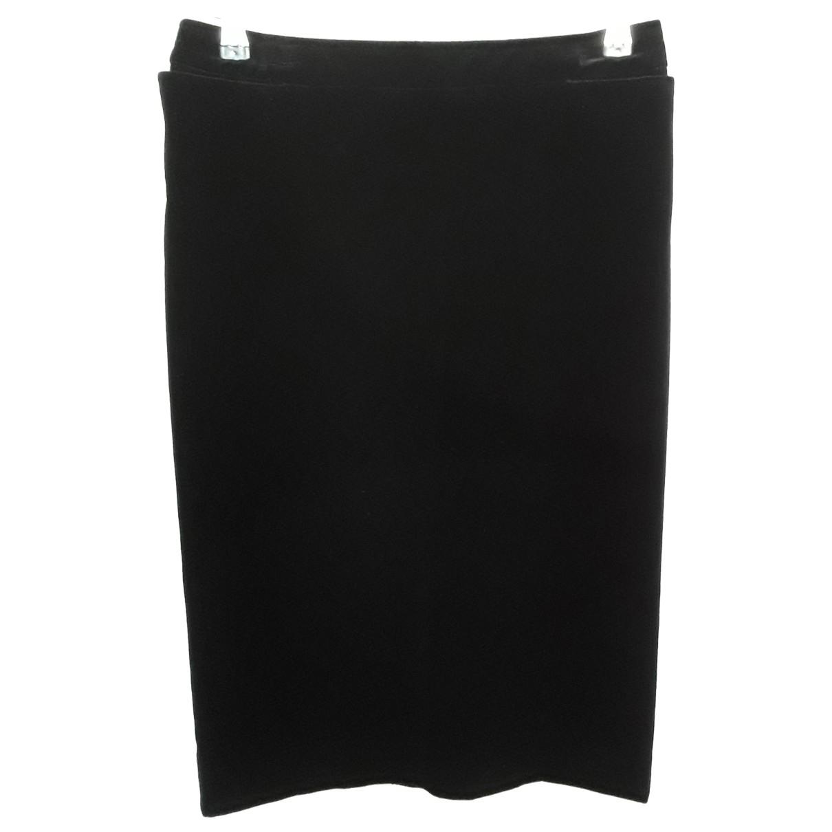 Yves Saint Laurent - Jupe   pour femme en velours - noir