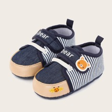 Baby Boy Cartoon Graphic Velcro Strap Flats