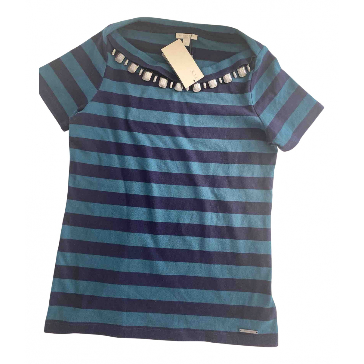 Burberry N Blue Cotton Knitwear for Women 40 FR