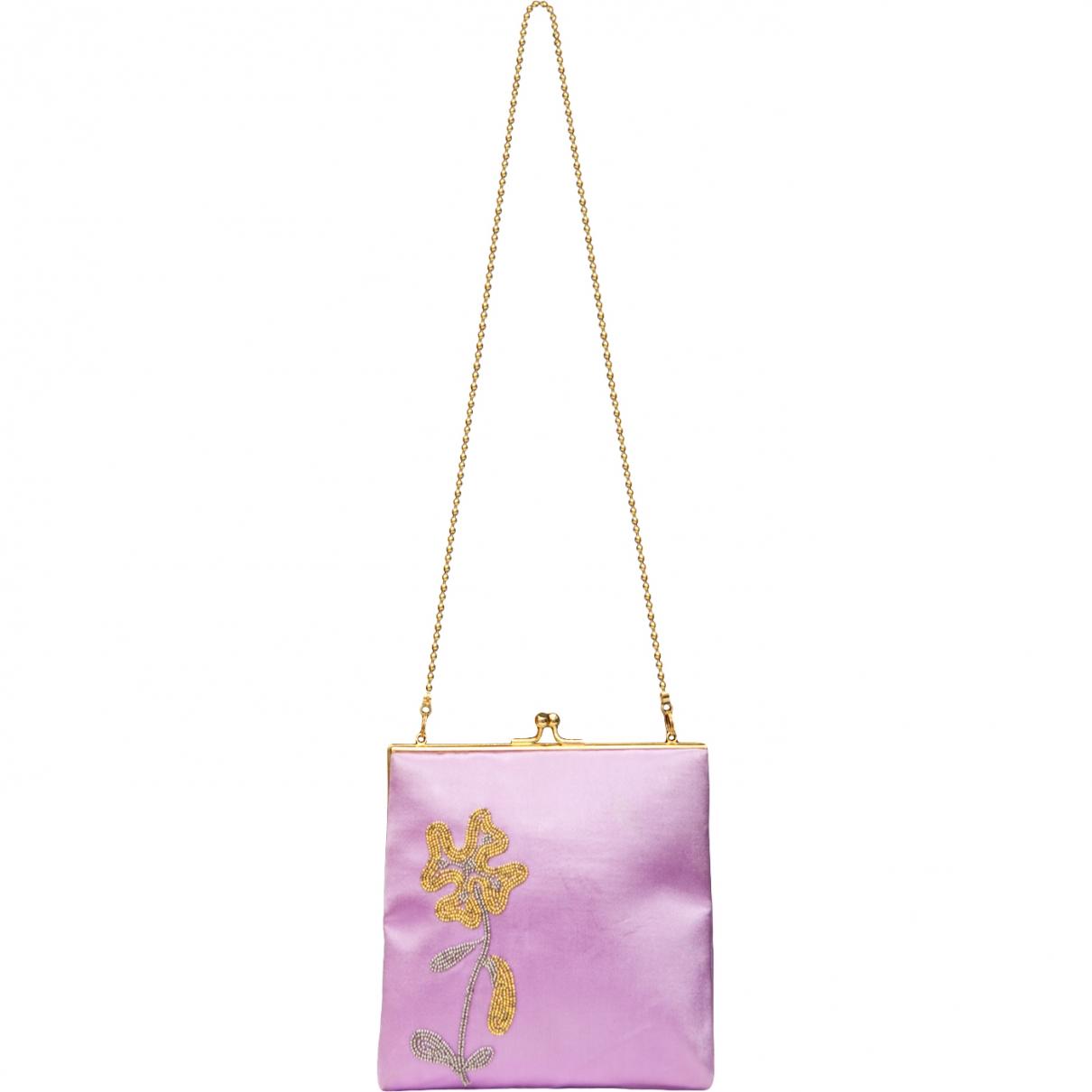 Pierre Cardin \N Handtasche in  Lila Seide