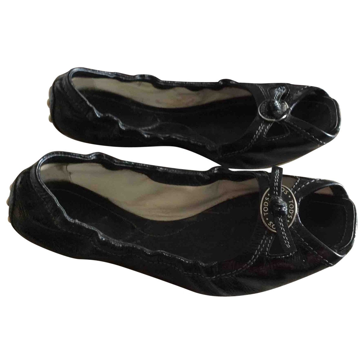 Tod's \N Black Patent leather Ballet flats for Women 35.5 EU