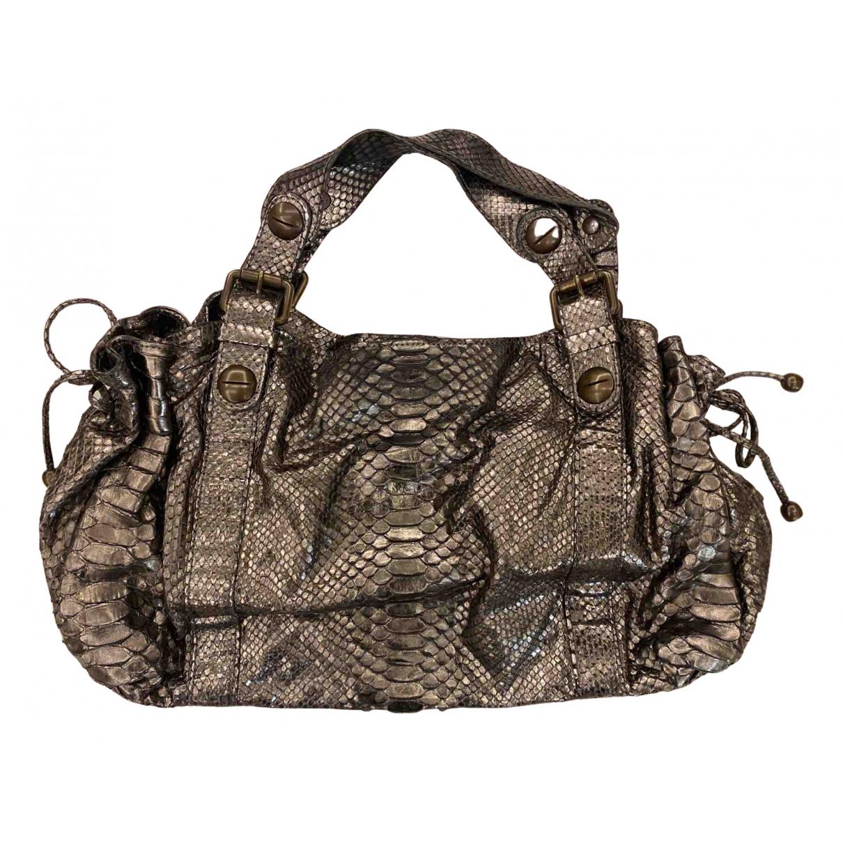 Gerard Darel 24h Handtasche in  Metallic Python