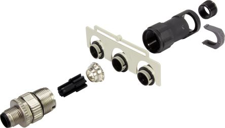 HARTING Connector, 5 contacts Cable Mount M12 Socket, Crimp IP65, IP67