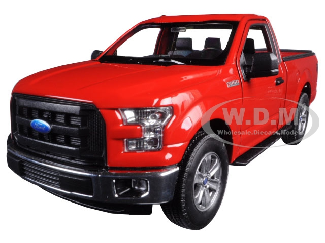 2015 Ford F-150 Regular Cab Pickup Truck Red 1/24-1/27 Diecast Model Car by Welly