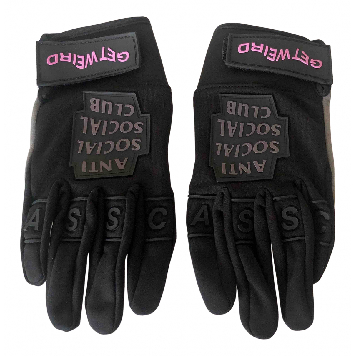 Anti Social Social Club N Black Gloves for Women S International