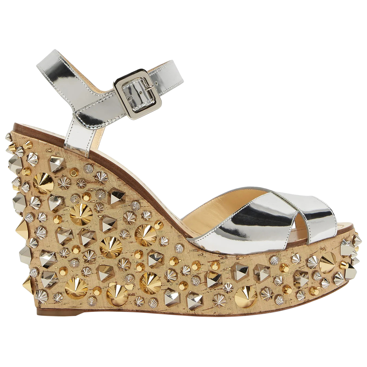 Christian Louboutin \N Silver Patent leather Sandals for Women 35 EU