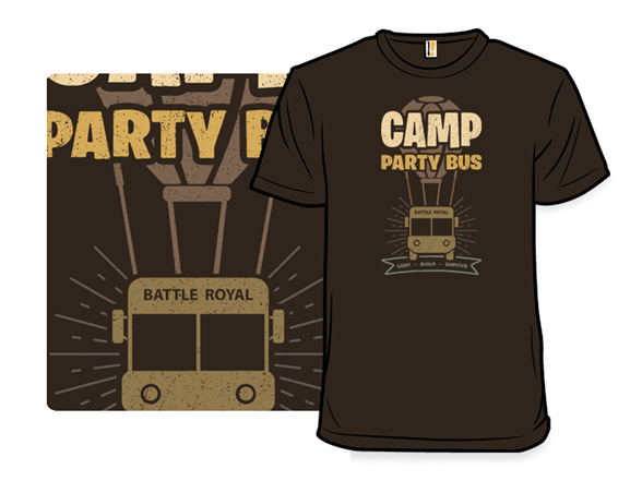 Camp Party Bus T Shirt