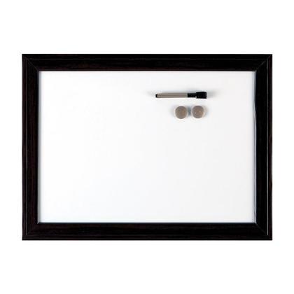 Quartet@ d ecor a la maison espresso tableau blanc cadre sombre - 24 x 36