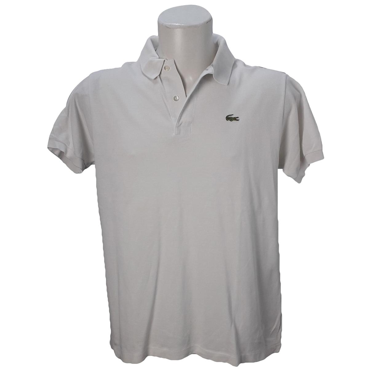 Lacoste - Polos   pour homme en coton - blanc