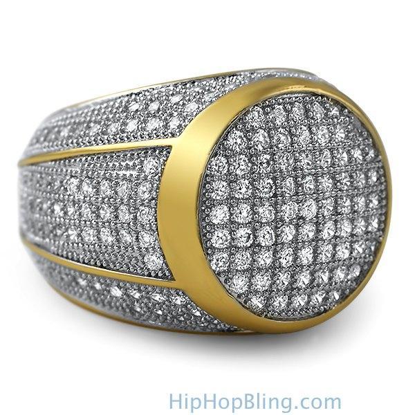 President Gold CZ Bling Bling Ring