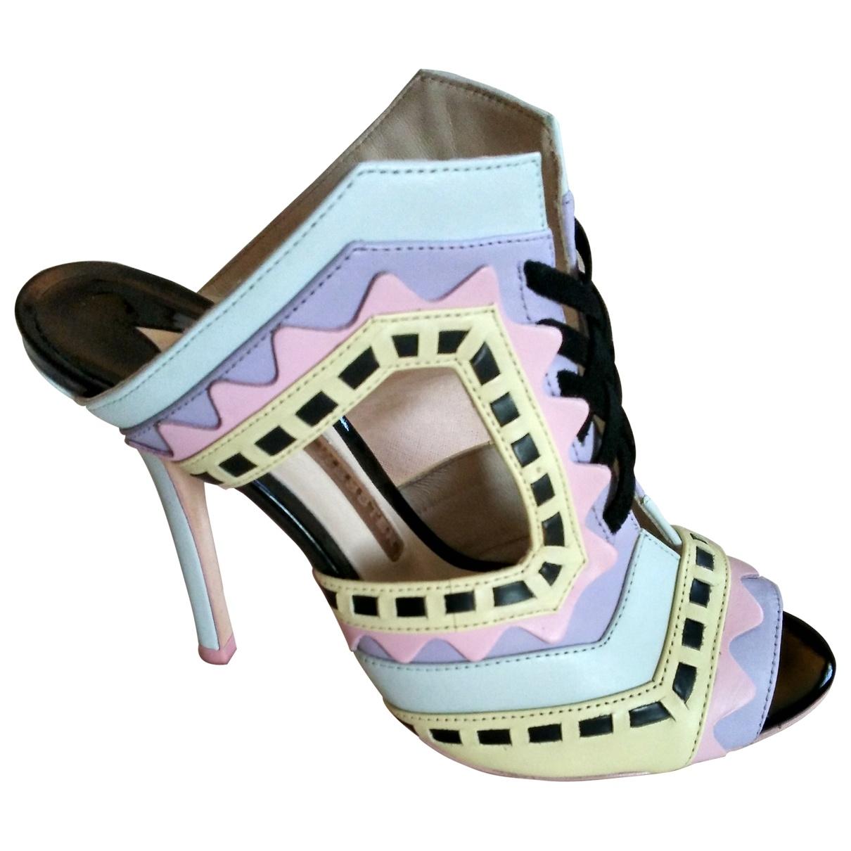 Sophia Webster - Sandales   pour femme en cuir - multicolore