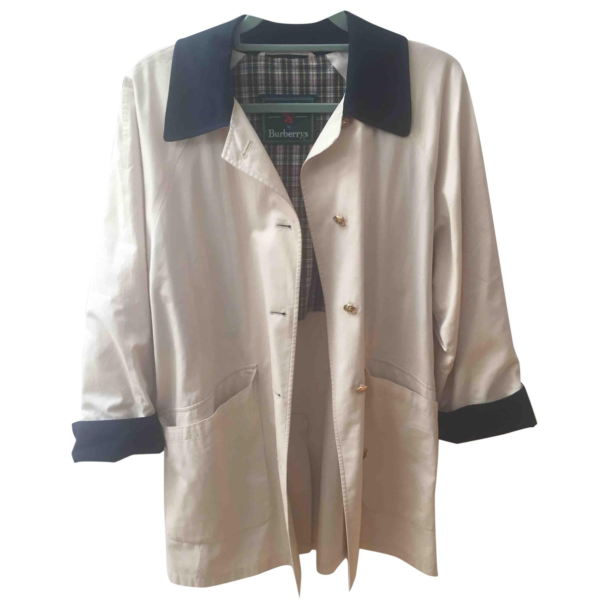 Burberry N Ecru Cotton jacket for Women 38 FR
